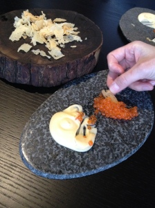 Conception: salmon roe